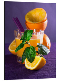 Aluminium print  Orange juice in a glass - Edith Albuschat