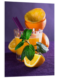 Foam board print  Orange juice in a glass - Edith Albuschat