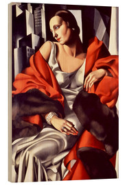 Wood print  Portrait of Mrs. Boucard - Tamara de Lempicka
