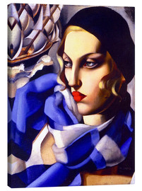 Canvas print  The blue scarf - Tamara de Lempicka