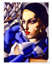Tamara de Lempicka - The blue scarf