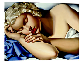 Acrylic print  The Sleeping Girl (Kizette) - Tamara de Lempicka