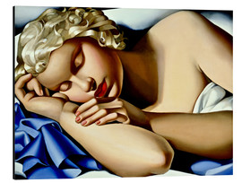 Aluminium print  The Sleeping Girl (Kizette) - Tamara de Lempicka