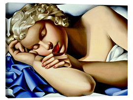 Canvas print  The Sleeping Girl (Kizette) - Tamara de Lempicka
