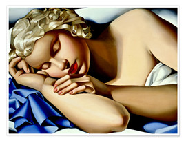 Tamara de Lempicka - The Sleeping Girl (Kizette)