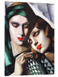 Foam board print  The green turban - Tamara de Lempicka