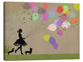 Canvas  girl with balloons - Elisandra Sevenstar