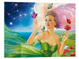 Foam board print  Fairy of the butterflies - Tanja Doronina