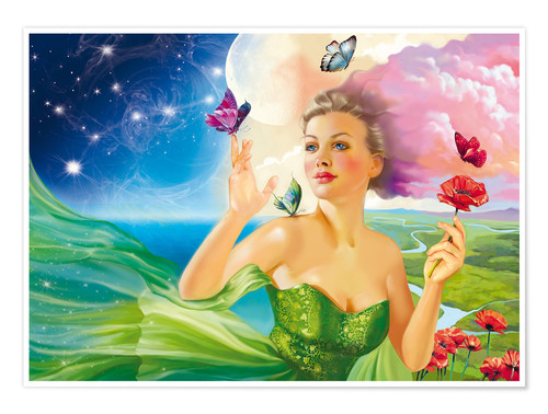 Premium poster Fairy of the butterflies