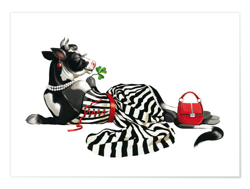 Premium poster glamour cow 2