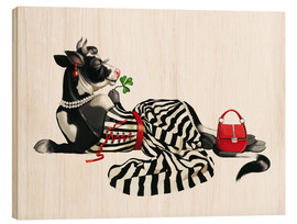 Wood print  glamour cow 2 - Tanja Doronina