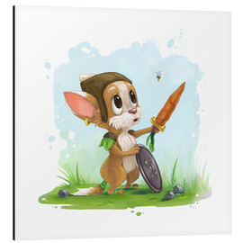 Alu-Dibond  Mouse fox with bee Fairy-tale illustration gift idea nursery - Alexandra Knickel