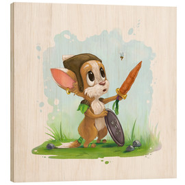 Wood print  My little hero - Alexandra Knickel