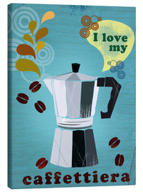 Canvas  i love my caffettiera - Elisandra Sevenstar