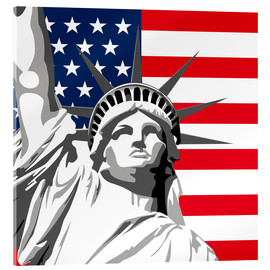 Acrylic print  statue of liberty - coico