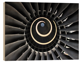 Wood print  Jet Engine 1 - HADYPHOTO by Hady Khandani