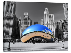 Canvas  Chicago Bean - HADYPHOTO by Hady Khandani