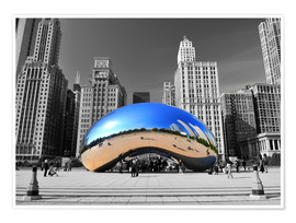 Premium poster Chicago Bean