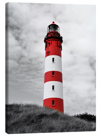 Canvas print  Lighthouse in Amrum, Germany - HADYPHOTO