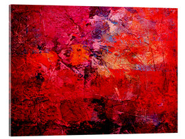 Acrylic print  Enlightened red - Wolfgang Rieger
