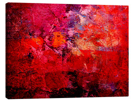 Canvas print  Enlightened red - Wolfgang Rieger