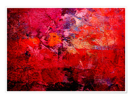 Premium poster  Enlightened red - Wolfgang Rieger