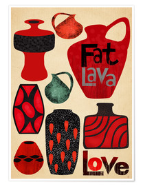 Premium poster Fat Lava Love