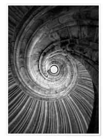 Premium poster Spiral staircase