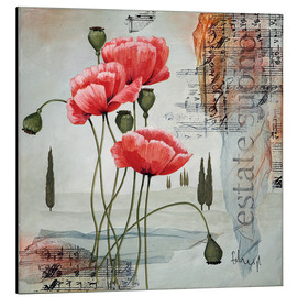 Aluminium print  Poppies - Franz Heigl