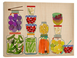 Wood  Bottled pickles and fruits - Elisandra Sevenstar