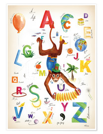 Premium poster  ABC Alphabet animals, colours and more - Heike Udes