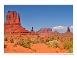 Premium poster Monument Valley I