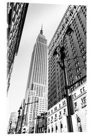 Acrylic glass  New York City - Empire State Building (monochrome) - Sascha Kilmer
