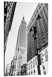 Aluminium print  New York City - Empire State Building (monochrome) - Sascha Kilmer