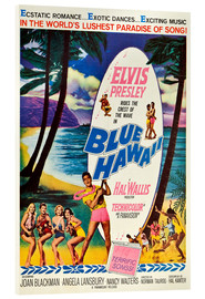 Acrylic print  Blue Hawaii
