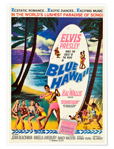 Premium poster Blue Hawaii