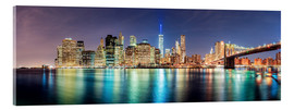 Acrylic glass  New York City Skyline, panoramic view - Sascha Kilmer
