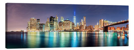 Canvas print  New York City Skyline, panoramic view - Sascha Kilmer