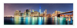 Premium poster New York City Skyline, panoramic view