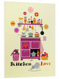 Foam board print  Kitchen Love - Elisandra Sevenstar