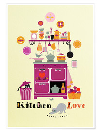 Premium poster Kitchen Love