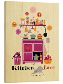 Wood  Kitchen Love - Elisandra Sevenstar