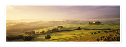 Premium poster Orcia Valley at sunrise