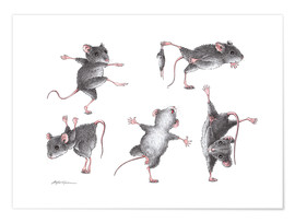 Poster Mouse-Gymnastics