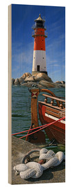 Wood print  The Lighthouse In The Harbor - Monika Jüngling