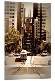 Acrylic glass  SAN FRANCISCO California Street - Melanie Viola