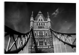 Acrylic print  London Tower Bridge monochrome - Filtergrafia
