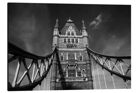 Aluminium print  London Tower Bridge monochrome - Filtergrafia