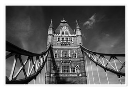 Premium poster  London Tower Bridge monochrome - Filtergrafia