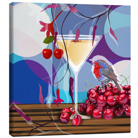 Canvas print  Vintage Birdy Cocktail IV - Mandy Reinmuth